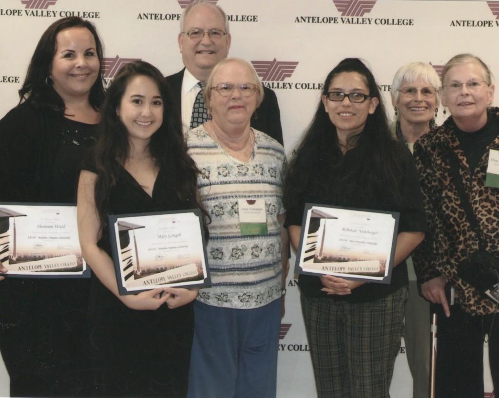 2014 Scholarship Recipients Shannon Ward, Mary Gongob, and Noel Battle