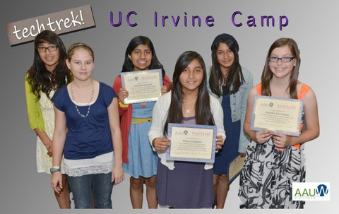 Six went to the UC Irvine Tech Trek camp in July 2013.
