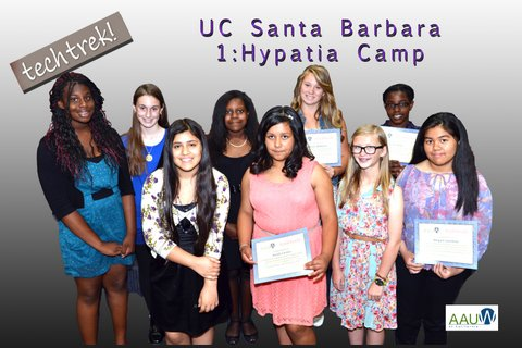Nine went to the UC Santa Barbara Hypatia Camp at the end of July 2013.